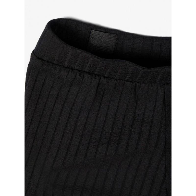 NAME IT Rib bukser 7/8 længde Sort-01