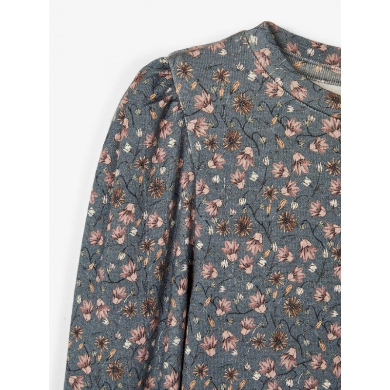NAME IT Langærmet T-shirt Dark Slate/blå-01