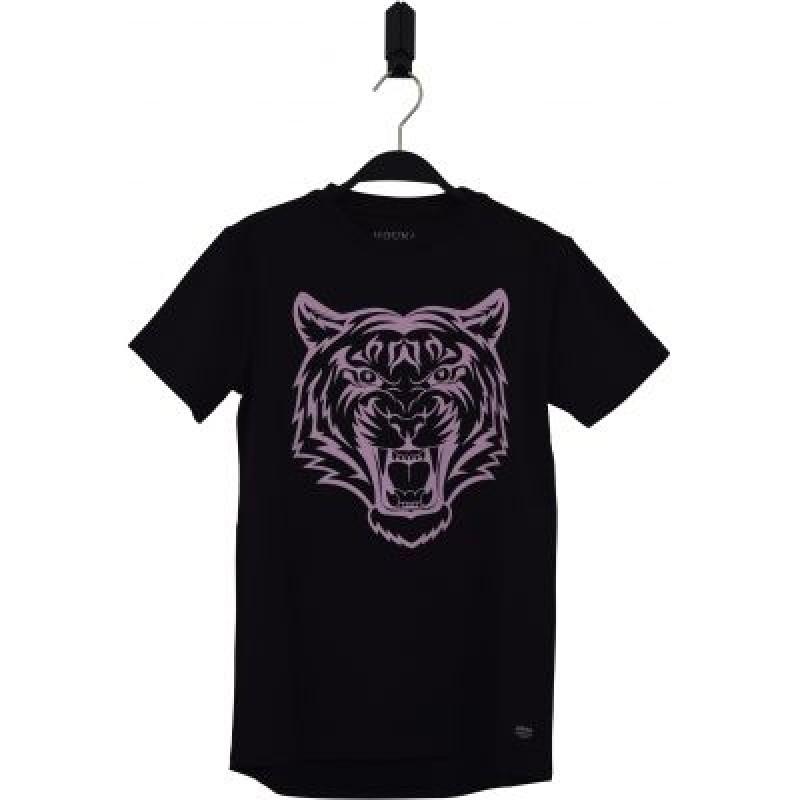T-shirt med tiger motiv sort-31
