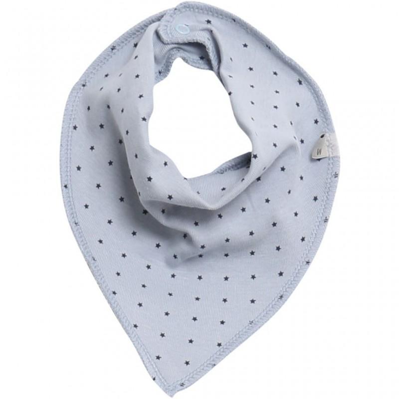 Baby bib scarf lyseblå med stjerner-31