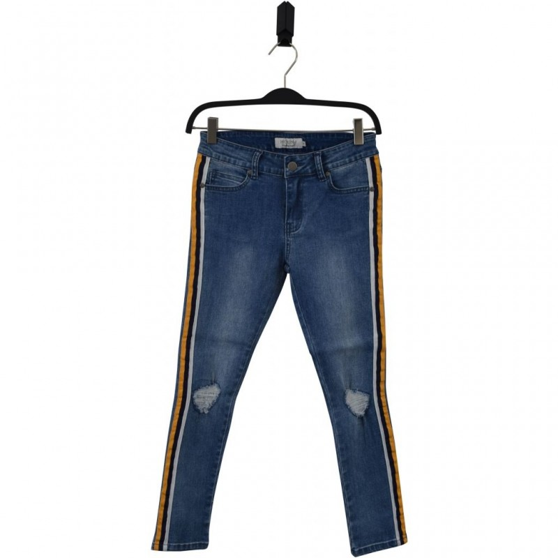 HOUND Jeans i used denim med side stripe model PAINT-34