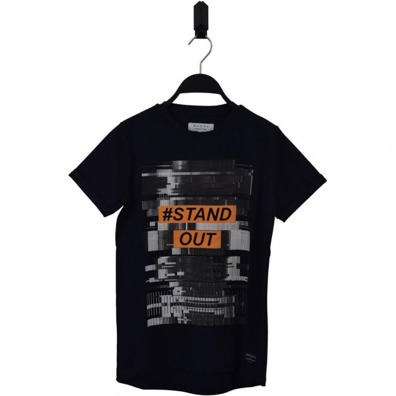 HOUND Lækker T-shirt tofarvet med skriften STAND OUT navy/orange-32