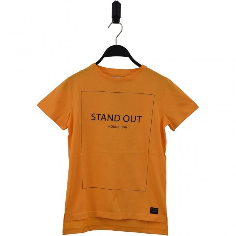 HOUND Lækker T-shirt med skriften STAND OUT orange-33