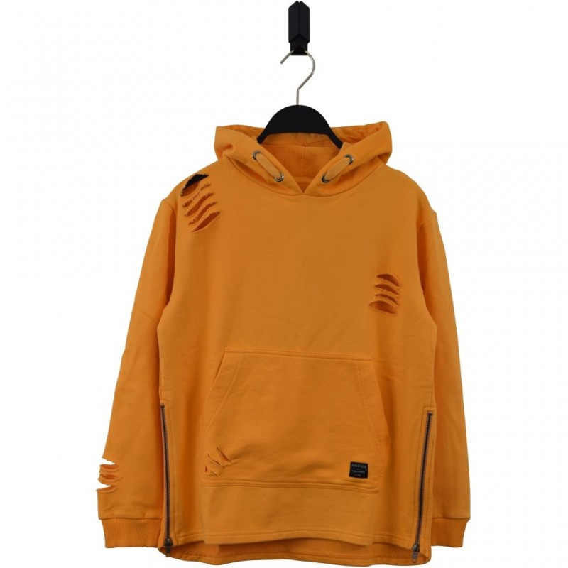 HOUND Sej hoodie med lynlåsdetalje orange-32