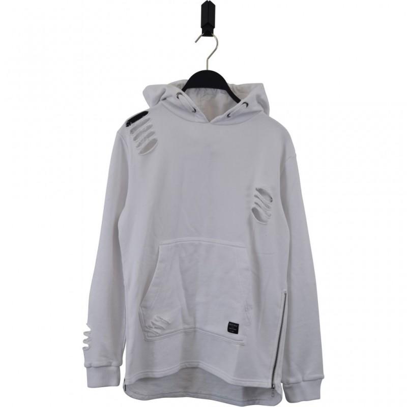 HOUND Sej hoodie med lynlåsdetalje hvid-31