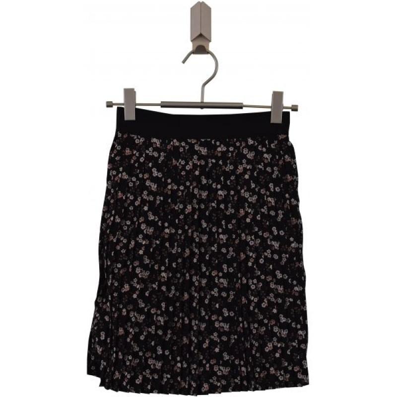 ADD TO BAG Blomstret, plisseret nederdel med bredt elastik-31