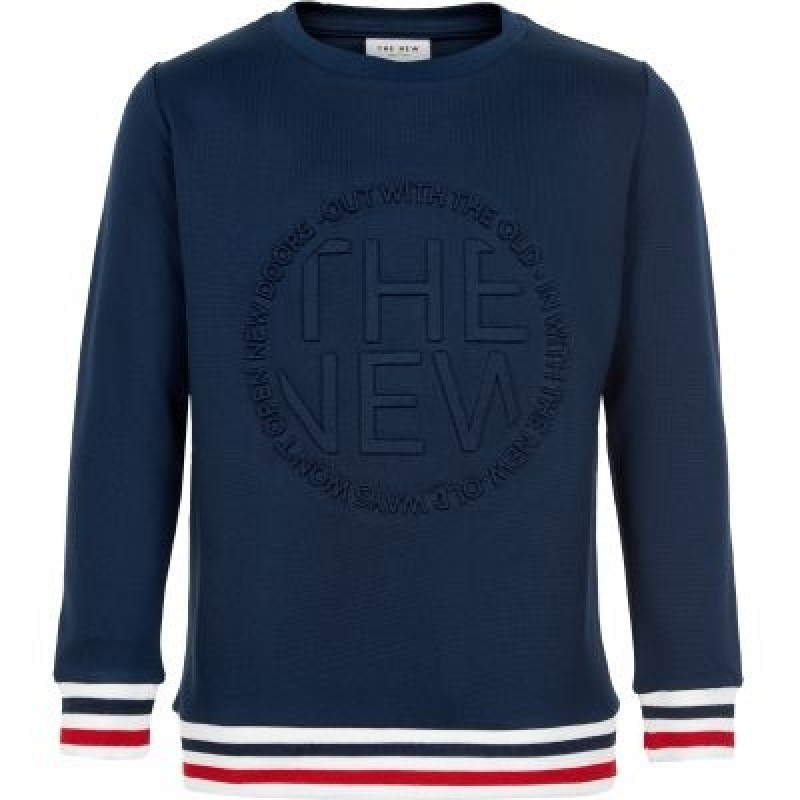 THE NEW SWEATSHIRT MED FLOTTE DETALJER NAVY-32