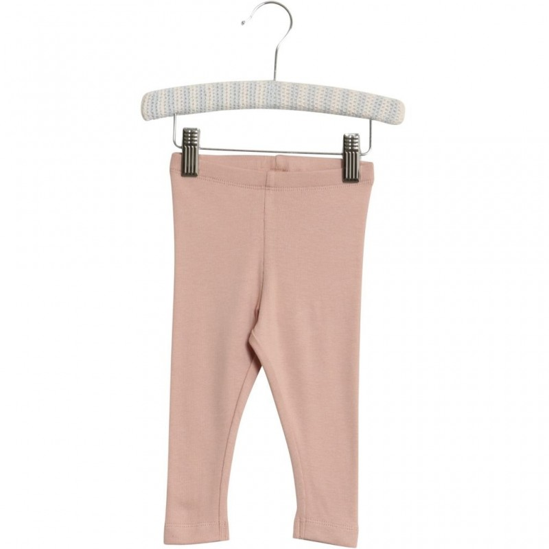 WHEAT Bløde rib leggings rose powder-31