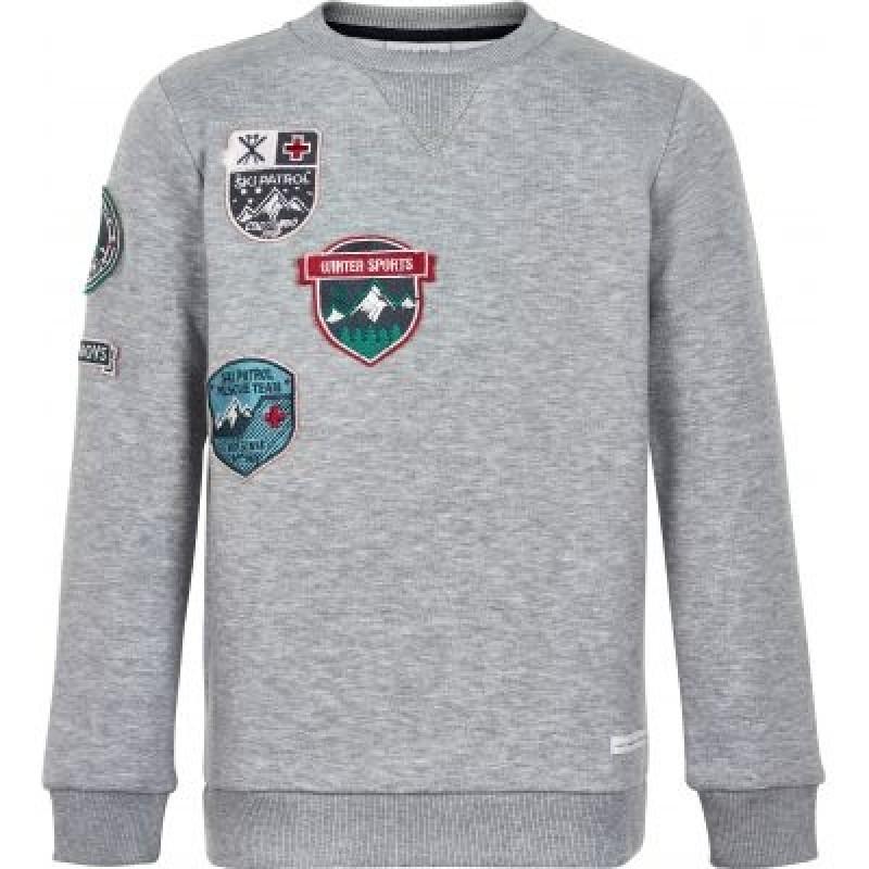 Sweatshirt med ski-badgets grå-31