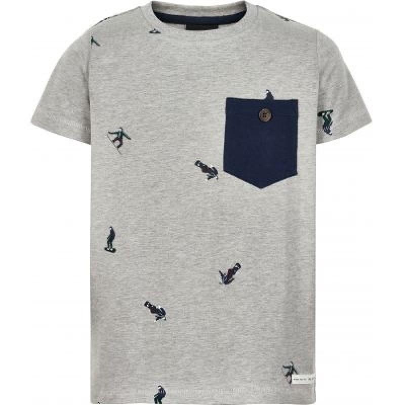T-shirt med print af snowboarders JACOB grå-31