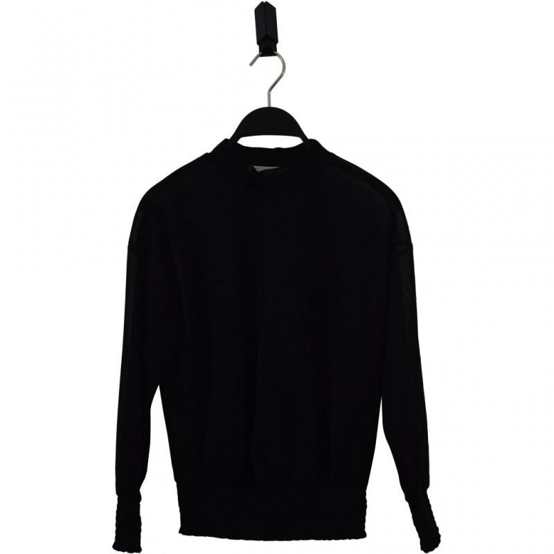 HOUND Bluse i transparent sort glimmer-31