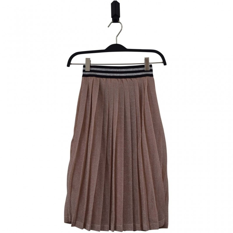 HOUND Lækkert plisseret skirt soft rose glimmer-33