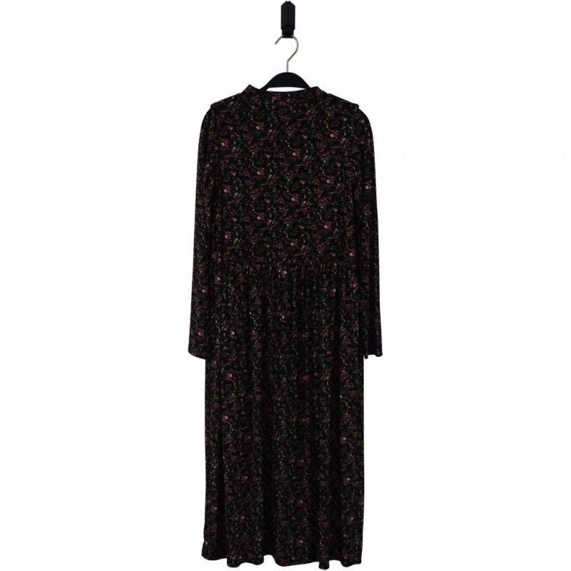 HOUND Lang kjole i transparent blomstret mønster-32