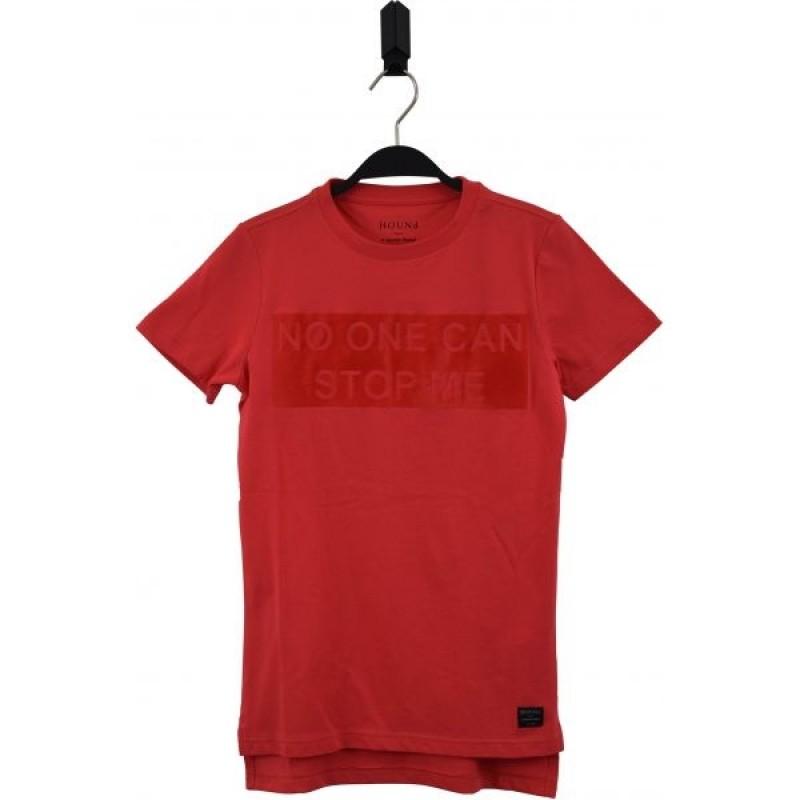 HOUND Lækker T-shirt med skriften NO ONE CAN STOP ME frisk rød-34