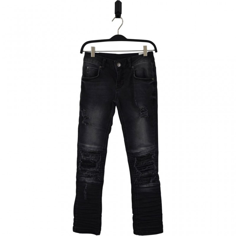 HOUND Semi ripped trashed black jeans model XTRA SLIM-33