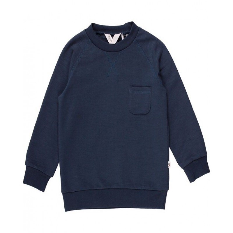 SLUB SWEAT SHIRT MIDNIGHT BLUE-31