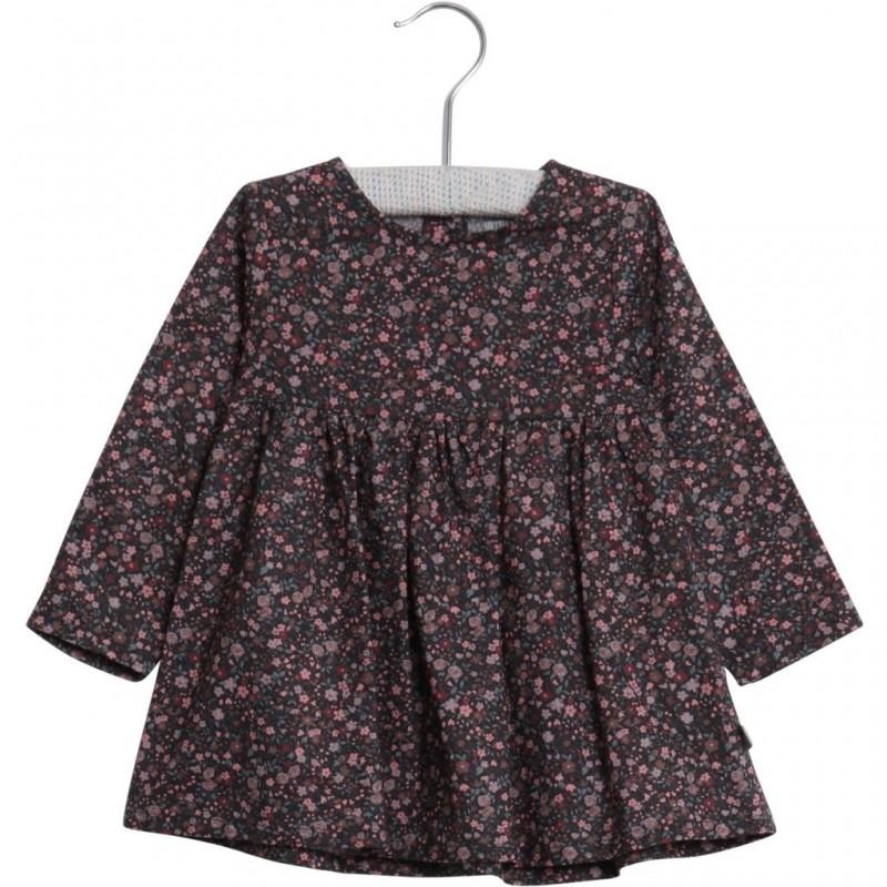 Blomstret langærmet kjole Elvia lilla-32