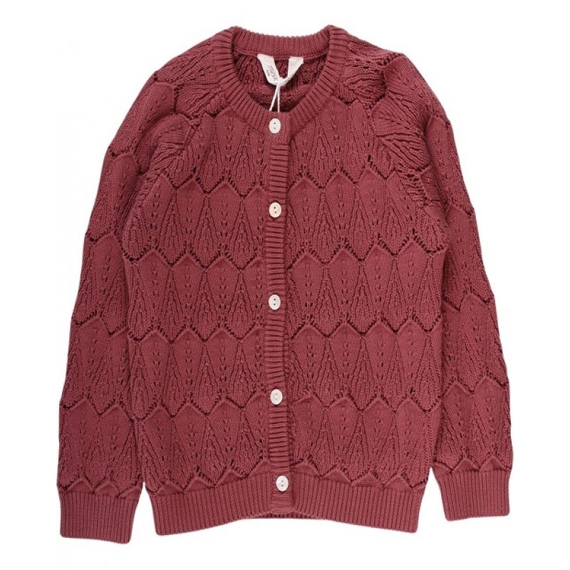 MÜSLI STRIKKET CARDIGAN DUSTY BERRY-31