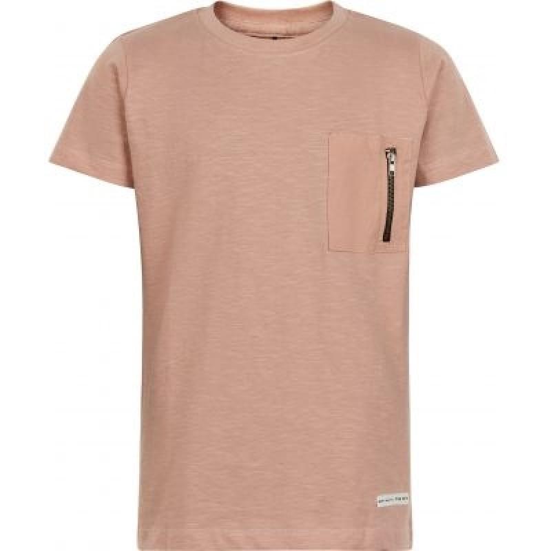 THE NEW T-shirt med pyntelomme Kenneth adobe rose-33