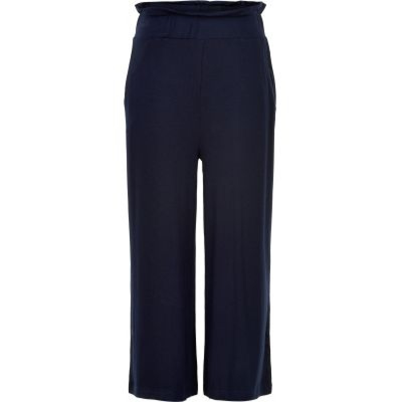 THE NEW CULOTTE PANTS MED DETALJER NAVY-31