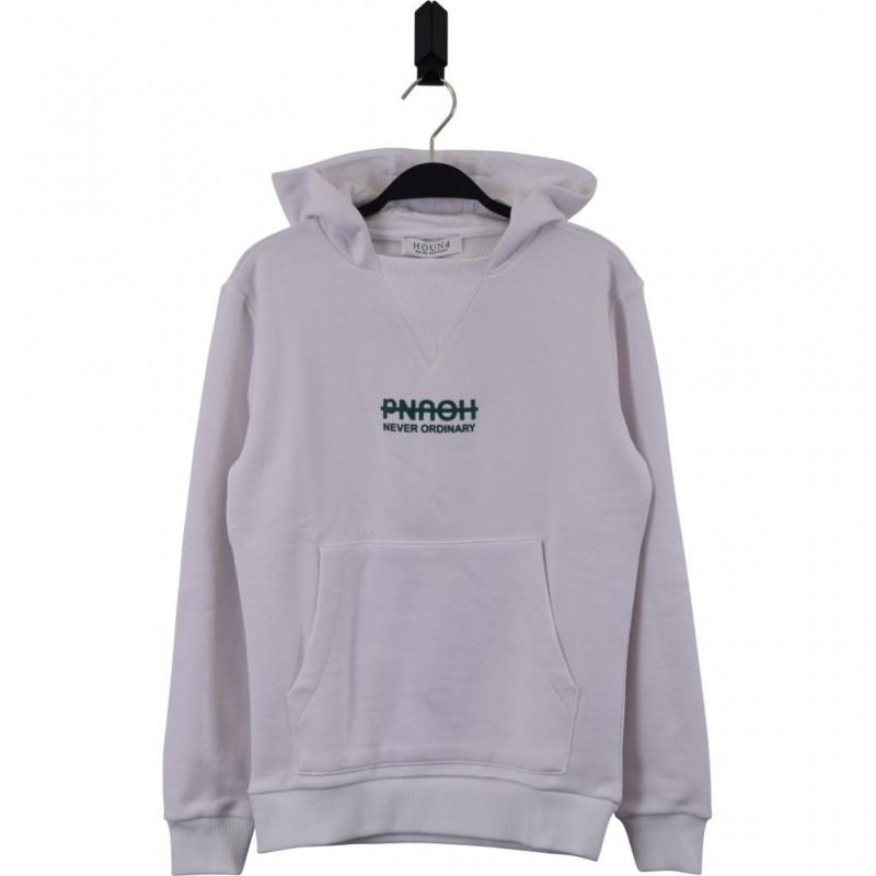 HOUND Sej hoodie i flot fashion design hvid med grøn skrift-34