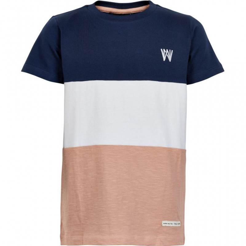 THE NEW T-shirt navy / hvid / rose-32