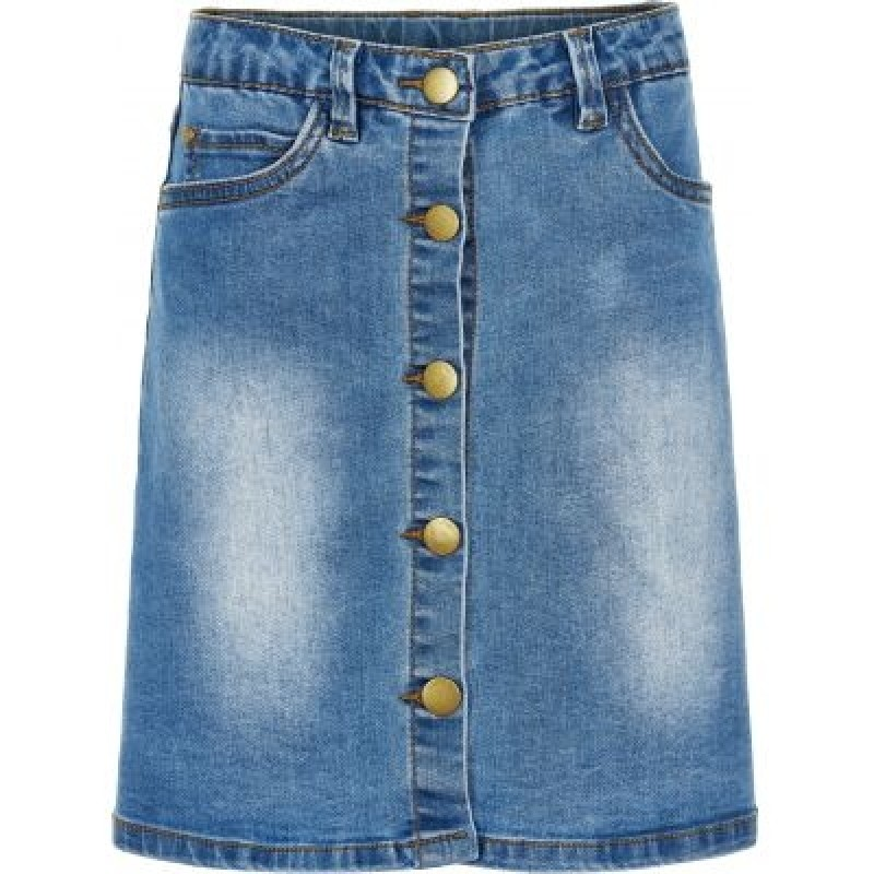 DENIM SKIRT MED KNAPPER-31