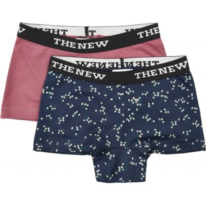 THE NEW HIPSTERS 2-PAK ROSA/NAVY MED BLOMSTER-31