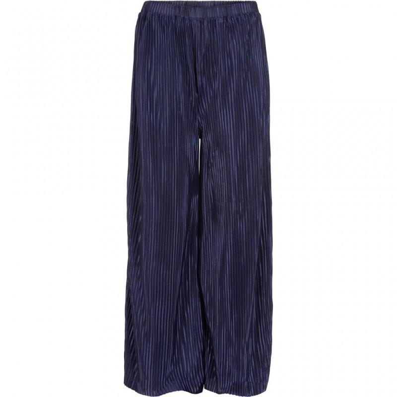 THE NEW Smukke plisse culotte pants KAYA navy-31