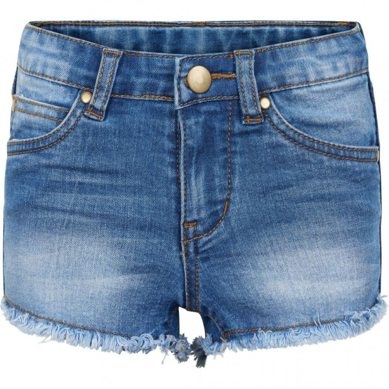 THE NEW Denim shorts med frynser AGNES denim-33