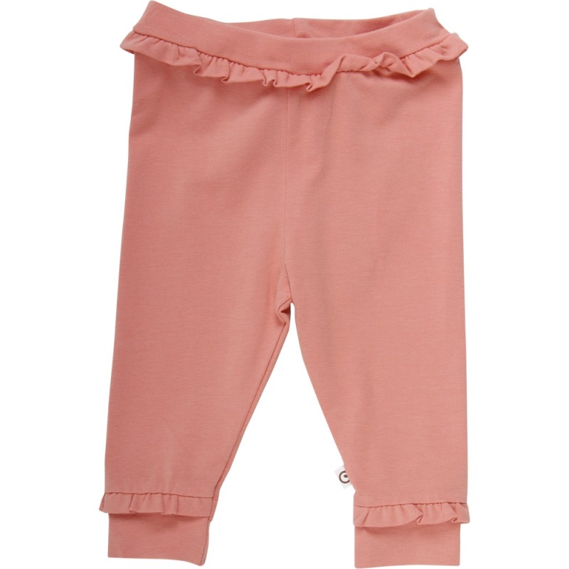 MÜSLI Cozy me frill pants dark peach-33