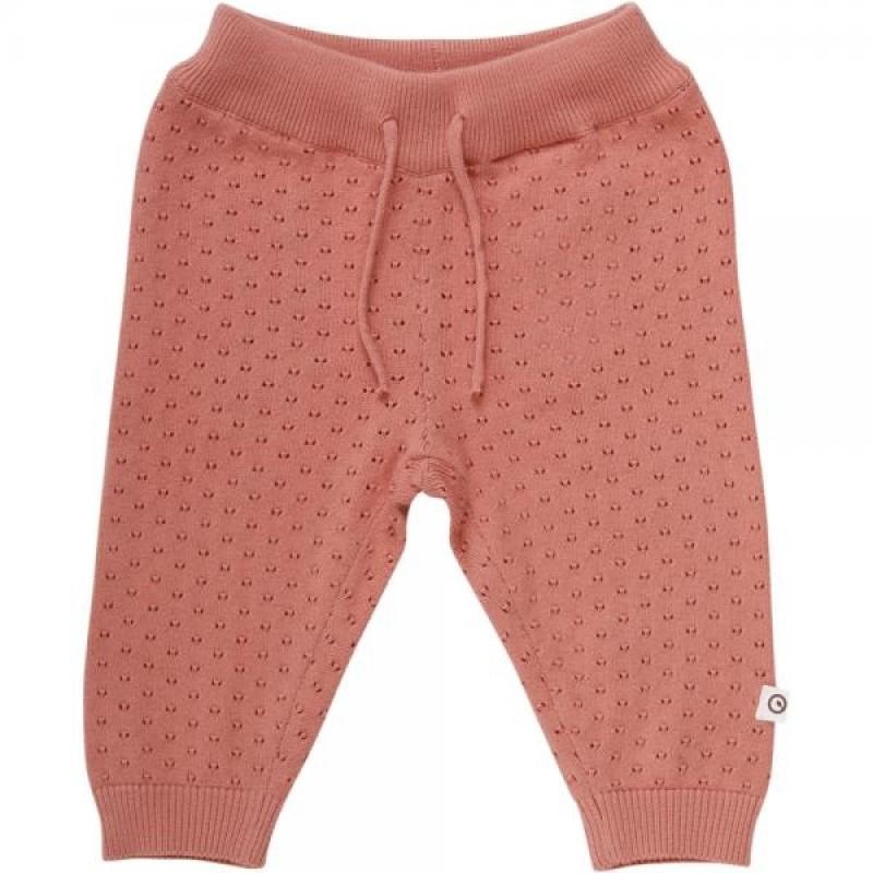 MÛSLI Knit dot pants Dark peach-31