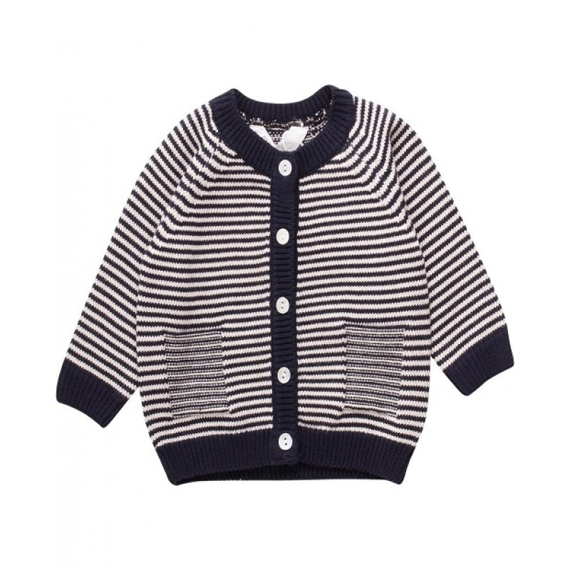 MÜSLI STRIPE CARDIGAN NAVY STRIPE-31