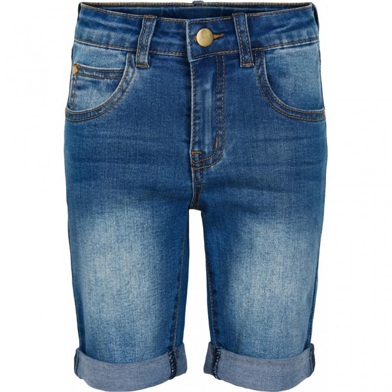THE NEW Slim denim shorts med opslag-33