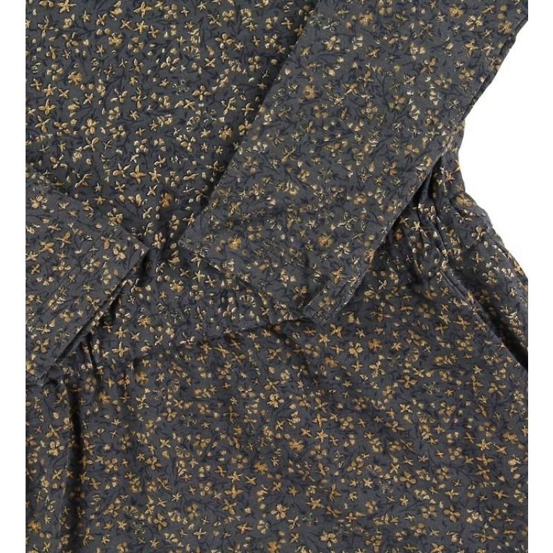 WHEAT Odile kjole Greyblue Flowers-01