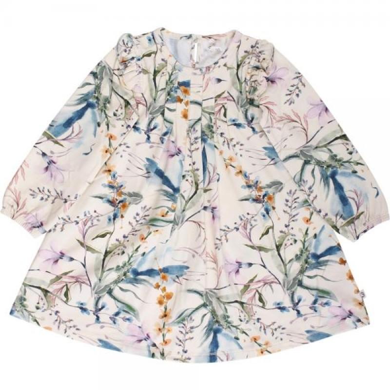 MÜSLI Langærmet kjole med flotte detaljer på bryst og ved skuldre Spicy Botany-36