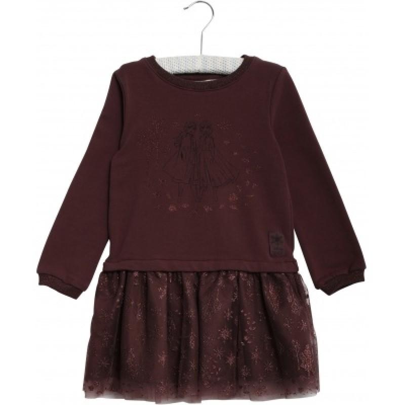 WHEAT FROZEN Tulle Sweat Dress-32