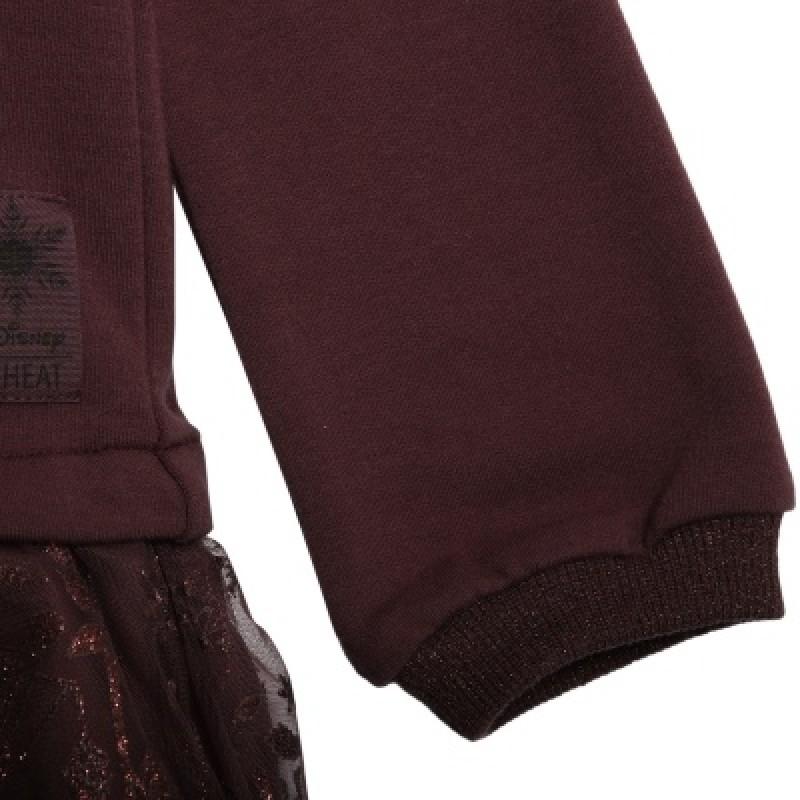 WHEAT FROZEN Tulle Sweat Dress-02
