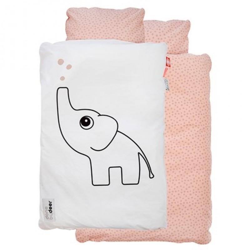 DONE BY DEER Baby sengetøj med Elphee hvid/lyserød-34