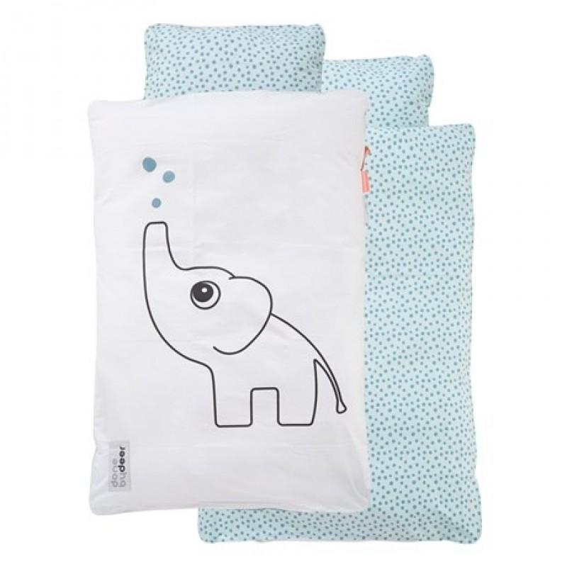 DONE BY DEER Baby sengetøj med Elphee hvid/lyseblå-33