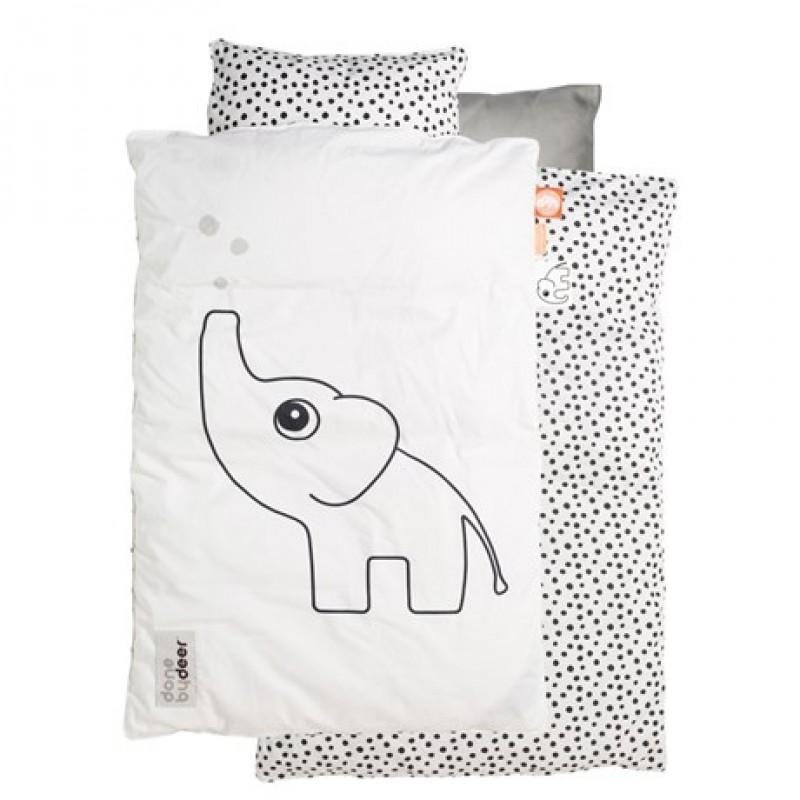 Baby sengetøj med Elphee hvid/sort-35
