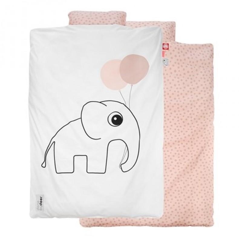 DONE BY DEER Junior sengetøj med Elphee hvid/lyserød-33