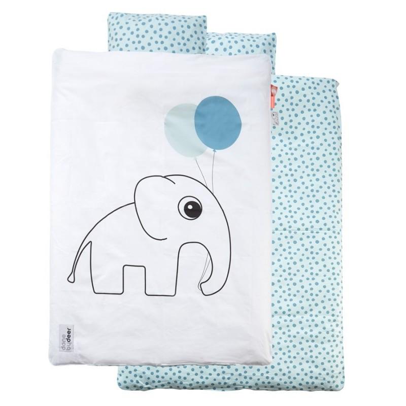 DONE BY DEER Junior sengetøj med Elphee hvid/lyseblå-32