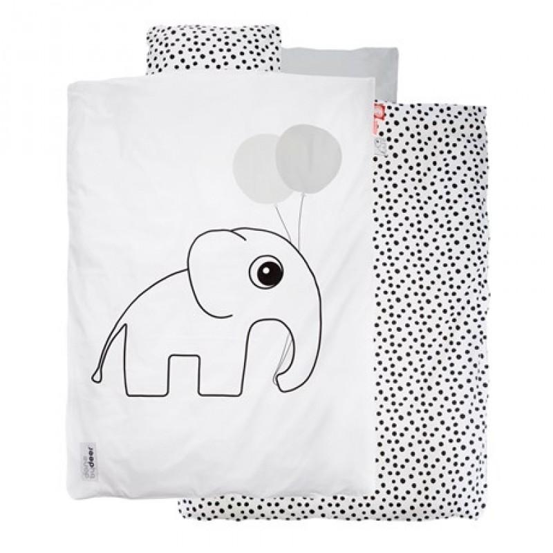 DONE BY DEER Junior sengetøj med Elphee hvid/sort-31
