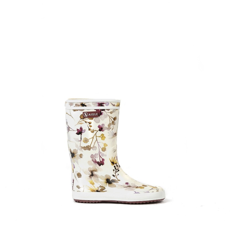 AIGLE Baby Flac and Lolly Pop Wildflower gummistøvler hvid-33