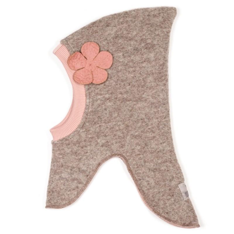 HUTTELIHUT Elefanthue Uld/Bomuld Camel/dusty flower-31