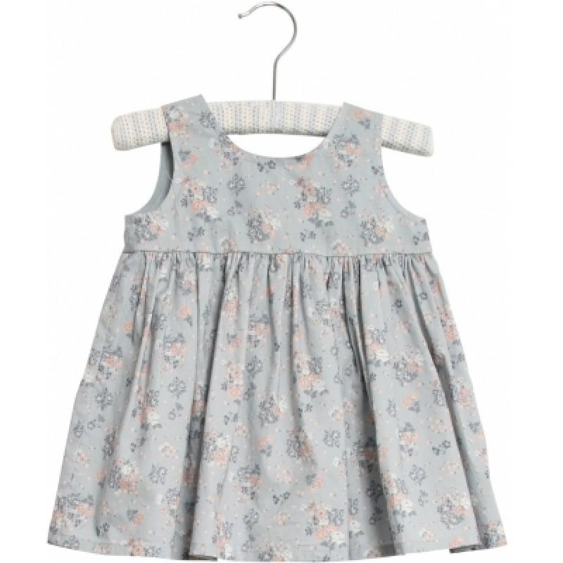 WHEAT Pinafore Wrinkles kjole Pearl blue flowers-34