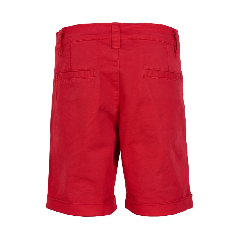THE NEW Chino shorts med opslag Gustavo rød-02