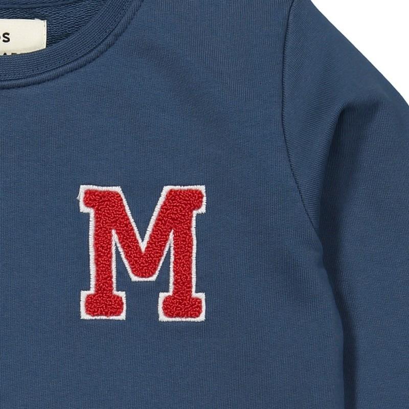 Sweatshirt med rund hals Solomino M blå-01