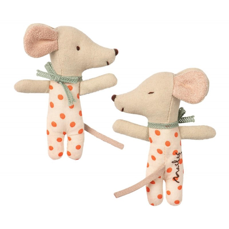 MAILEG Baby mouse Sllep/wakey in box pige-31